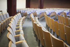 Empty auditorium seats at court house Royalty Free Stock Image