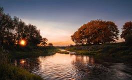 Empty panoramic autumn landscape royalty free stock photo