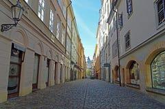 Free Empty Back Street Prague, Czech Republic Royalty Free Stock Photos - 134525658
