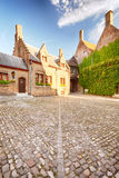 An empty back yard in Bruges, Belgium Stock Image
