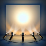 Empty background with stage spotlight. stock illustration
