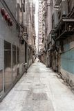 Empty backstreet in hong kong Stock Image