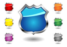 Empty badges set Royalty Free Stock Photography