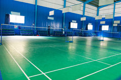 Empty badminton court Stock Images