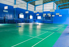 Empty badminton court Royalty Free Stock Image