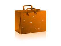 Empty bag. On isolated background royalty free illustration