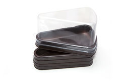 Empty bakery plastic package Stock Image