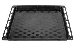 Empty baking tray. On white background stock images