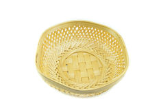 Empty bamboo basket Royalty Free Stock Image