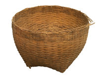 Empty bamboo basket Royalty Free Stock Photo