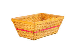Empty bamboo basket Royalty Free Stock Photos
