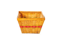Empty bamboo basket Stock Photos