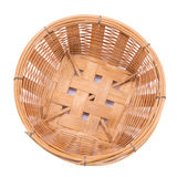 Empty bamboo basket on a white background Stock Image