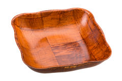 Empty bamboo bowl Royalty Free Stock Photography