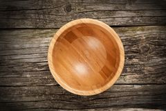 Empty bamboo bowl Royalty Free Stock Photography