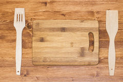 Empty bamboo cutting board Royalty Free Stock Image