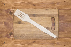 Empty bamboo cutting board Royalty Free Stock Photography