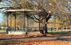 Empty bandstand in the Autumn/Fall. Stock Images
