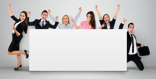 Empty banner with people Royalty Free Stock Photography