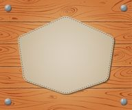 Empty banner on Wooden drawn background Stock Photos