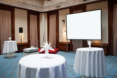 Empty banquet room Royalty Free Stock Image