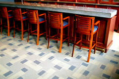 Empty bar. Bar stools and empty bar Royalty Free Stock Images
