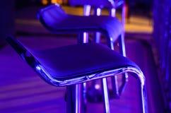 Empty Bar Stool in Night Club Stock Image
