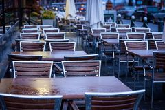 Empty bar terrace at night Stock Photography