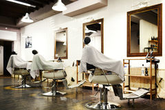 Empty barbershop Royalty Free Stock Photo