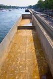 Empty barge Royalty Free Stock Image