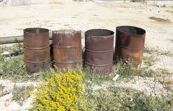 Empty barrels Stock Image