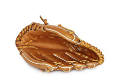 Empty baseball catcher mitt isolated