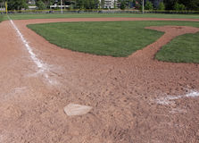 Empty Baseball Field Royalty Free Stock Images