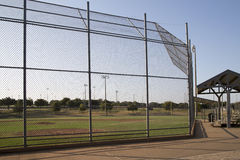 Empty baseball practice field Stock Photography