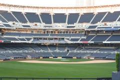 Empty baseball stadium. An outdoor baseball stadium with no people present Stock Photos