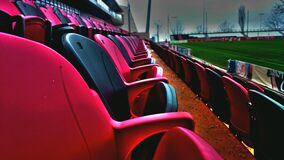Empty baseball stadium seats Stock Photography