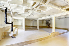 Empty basement in american house Royalty Free Stock Image