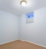 Empty basement bedroom interior design Royalty Free Stock Images