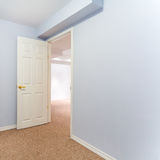 Empty basement bedroom interior design Royalty Free Stock Photos