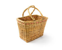 Empty basket. On white background Royalty Free Stock Images