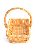 Empty basket. Empty woven basket over white Royalty Free Stock Photos