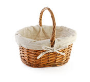 An empty basket. (upright) isolaten on white Stock Photography