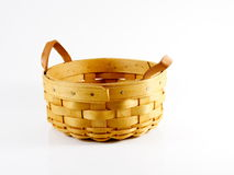 An empty basket. An an empty Longaberger basket waiting for someone to fill it stock photography