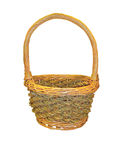 Empty basket. On white background Royalty Free Stock Photography