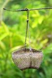 Empty basket in garden Stock Photo