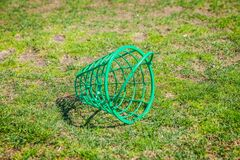 Empty basket of golf balls in the golf course in Otocec, Slovenia