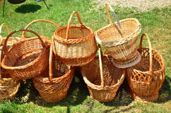 Empty basket Stock Photos