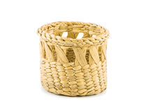 Empty basket isolated on white Royalty Free Stock Photos