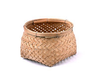 Empty basket isolated on  white Royalty Free Stock Images