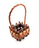 Empty basket isolated Royalty Free Stock Image